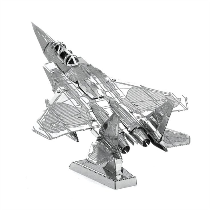 F-15 Eagle 3D Rompecabezas De Metal de Aviación Militar de Combate Modelo de Juguetes Rompecabezas Magnético de Aprendizaje Juguetes Educativos Para Niño