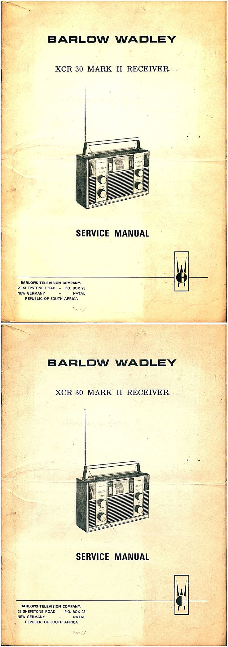 Manuals and resources service manual barlow wadley xcr 30 mark ii sw receiver complete repair