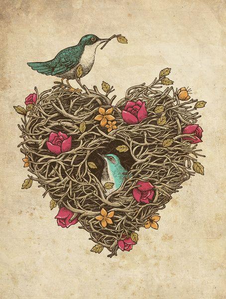 Home is where the heart is Art Print by Alvaro Arteaga   Society6