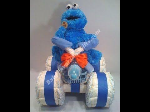 All Terrain 4-Wheeler ATV Vehicle Diaper Cake, baby shower gift ideas