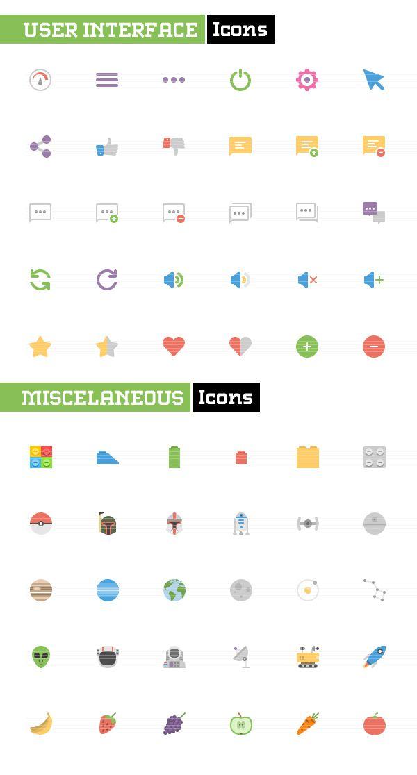 UI Flat icons