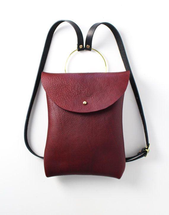 Femmes sac à dos en cuir sac à main de la par EcoCollectiveAus