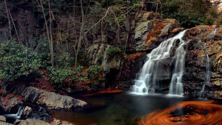 Hawk falls at hickory run state park forest HD Wallpaper