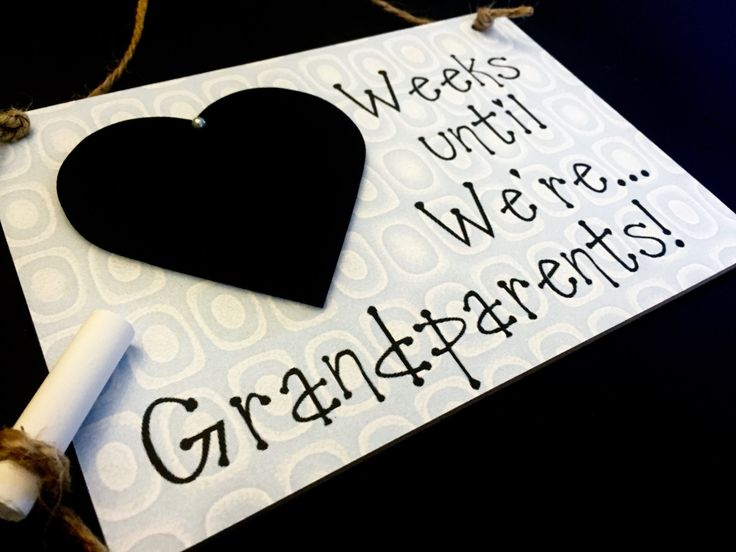 "Weekly Pregnancy Countdown, Pregnancy Reveal To Grandparents, (Smokey Blue) ""Weeks Until..We're Grandparents!"", Pregnancy Reveal by CountdownChalkboards on Etsy"