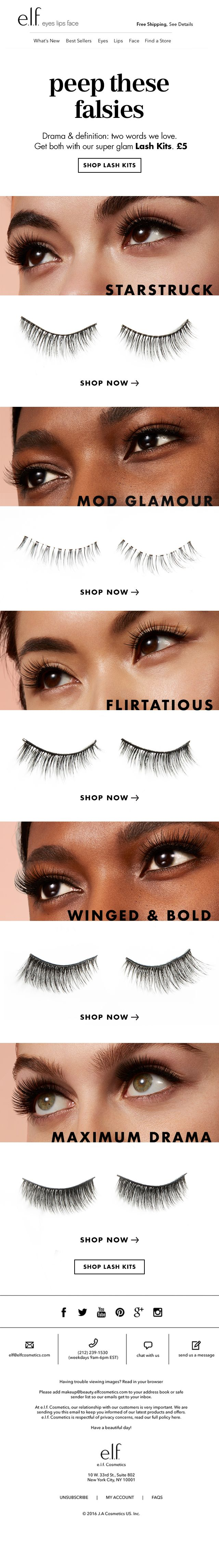 Peep these falsies.  CLIENT: e.l.f. Cosmetics UK Built by: Mark Nayve | SellUP