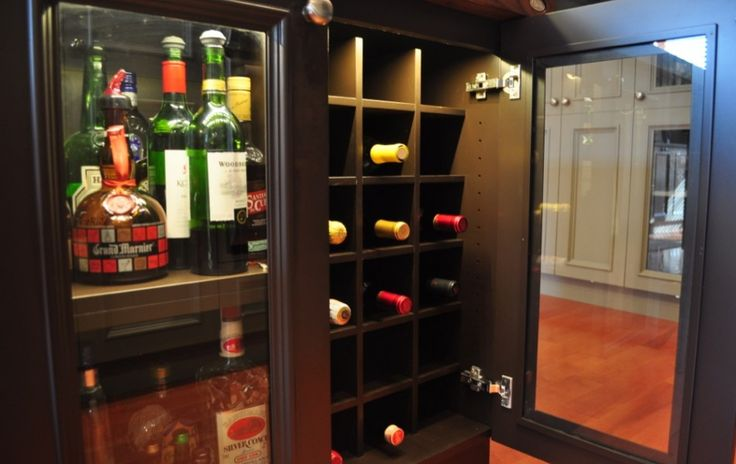 This espresso finished wine cabinet will win over any homeowner.