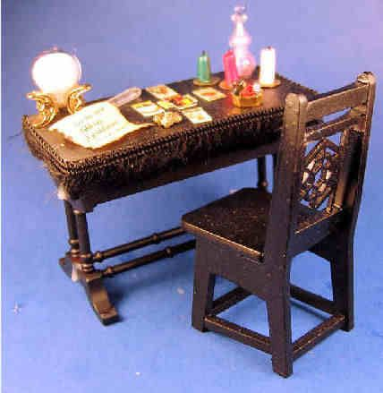 Miniature Fortune teller table in 1/12 scale
