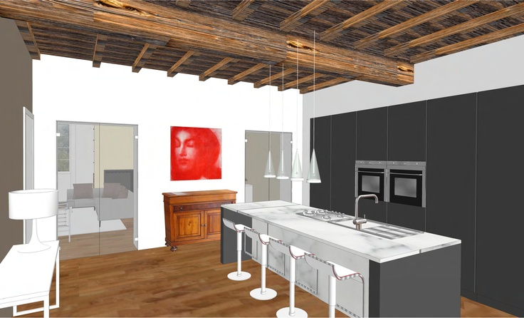 interior design - flat in historical building - 2012 - kichen