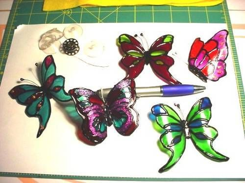 "From used plastic soda bottles to butterflies -  I think the metallic Sharpie pens on some would 'sparkle' them up! Or add glitter and acrylic stones tp really ""GLAM  IT UP""! MISCELLANEOUS TOPICS"