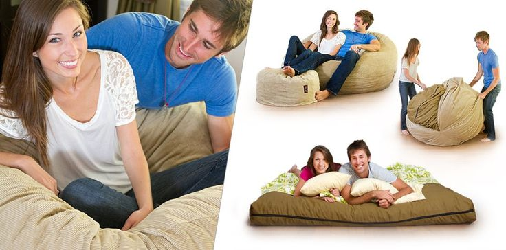 Bean bag chair that converts to a queen size bed? Can't wait to get one for our new family room/guest room.