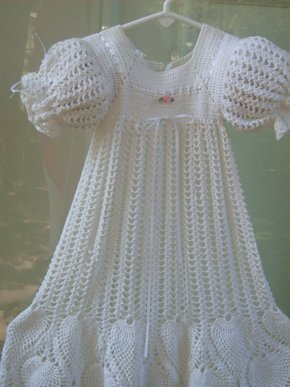 Baby Dress Crochet Pattern Victorian : 17 Best images about Baby crocheted christening dress on ...