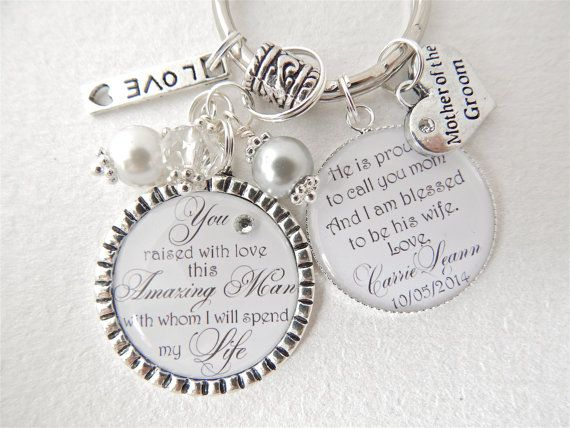 mother of groom gift thank you for raising man of my dreams keychain daughter in law mother in law bridal shower gift mob gift