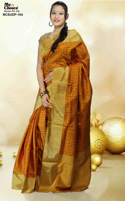 MASTARD COLOR UPPADA SILK SAREE