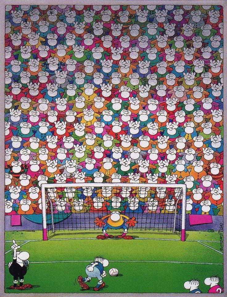 Dibujo de Mordillo - El penalti (fútbol)