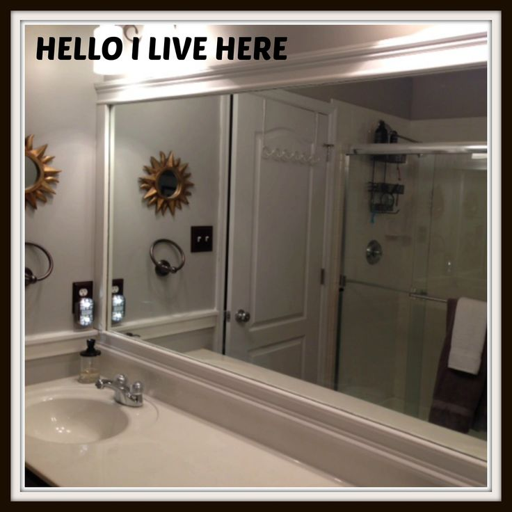 Want To Learn How Frame Your Bathroom Mirrors Stop By Our Post Tonight And See Easy It Is Dress Up Large Mirror