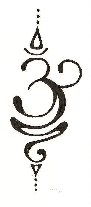 "this is the hindu symbol for ""om"" or ""aum"" which is the beginning sound of meditation and prayer. i will have it scripted on my body sooner than later!"