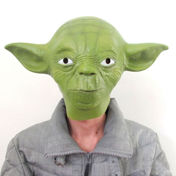 Latex Halloween Costume Star Wars Yoda Fancy Dress Face Mask Party Cosplay Masks | eBay