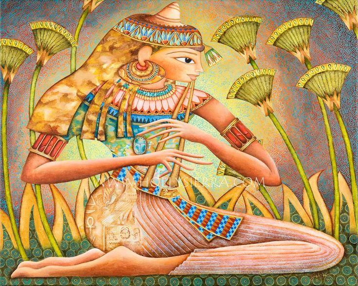 Goddess Paintings: Goddesses Paintings, Egyptian Goddesses, Art Greetings, Art Paintings, Acrylics Artworks, Goddesses Art, Ancient Egypt, Greetings Card, Sensen Egyptian