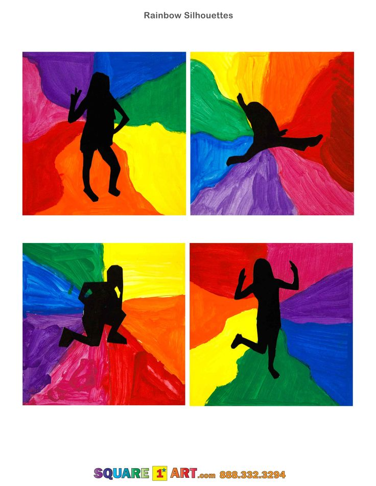Rainbow Silhouettes www.square1art.com/fundraisers #square1art @Square 1 Art