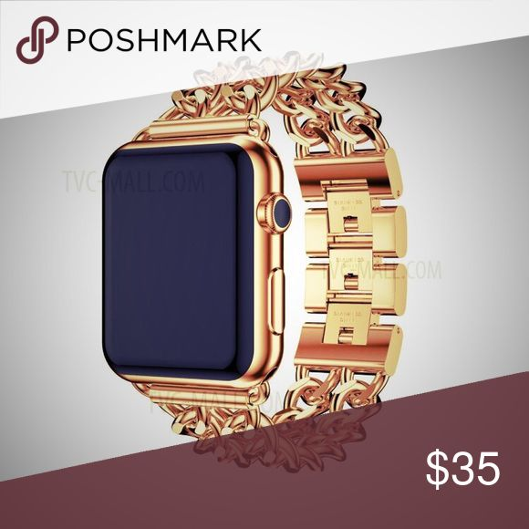 Rose Gold Apple Watch Band New. Fits 38mm. Small/Med. rose gold chain style. A definite must have!!! Accessories Watches