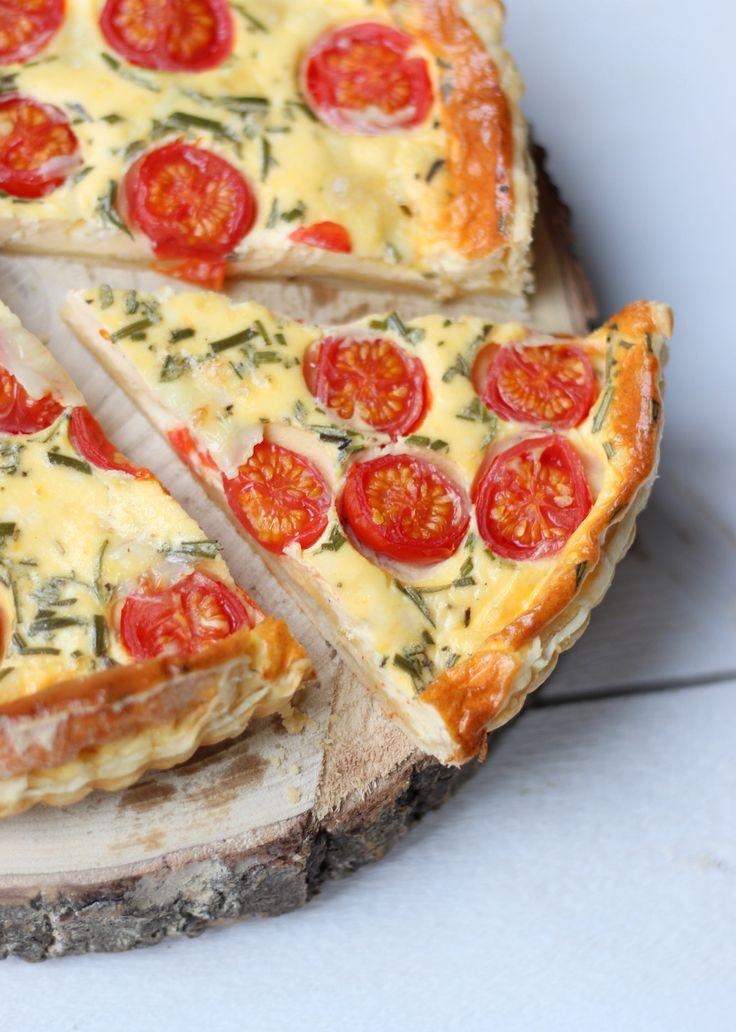 Quiche met tomaat, rozemarijn en geitenkaas // Francesca Kookt