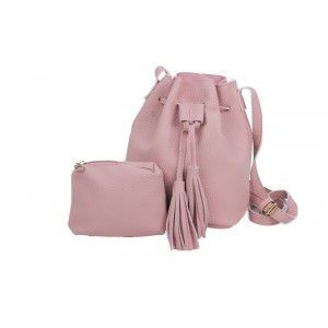 Bucket Draw String Bag With Mini Pouch
