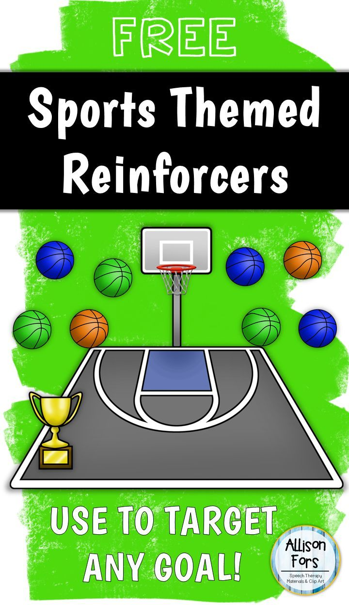 Coloring activities speech therapy - Free Use These Basketball Baseball And Soccer Reinforcers To Target Any Goal Includes Speech Therapy Gamesspeech Activitiestherapy