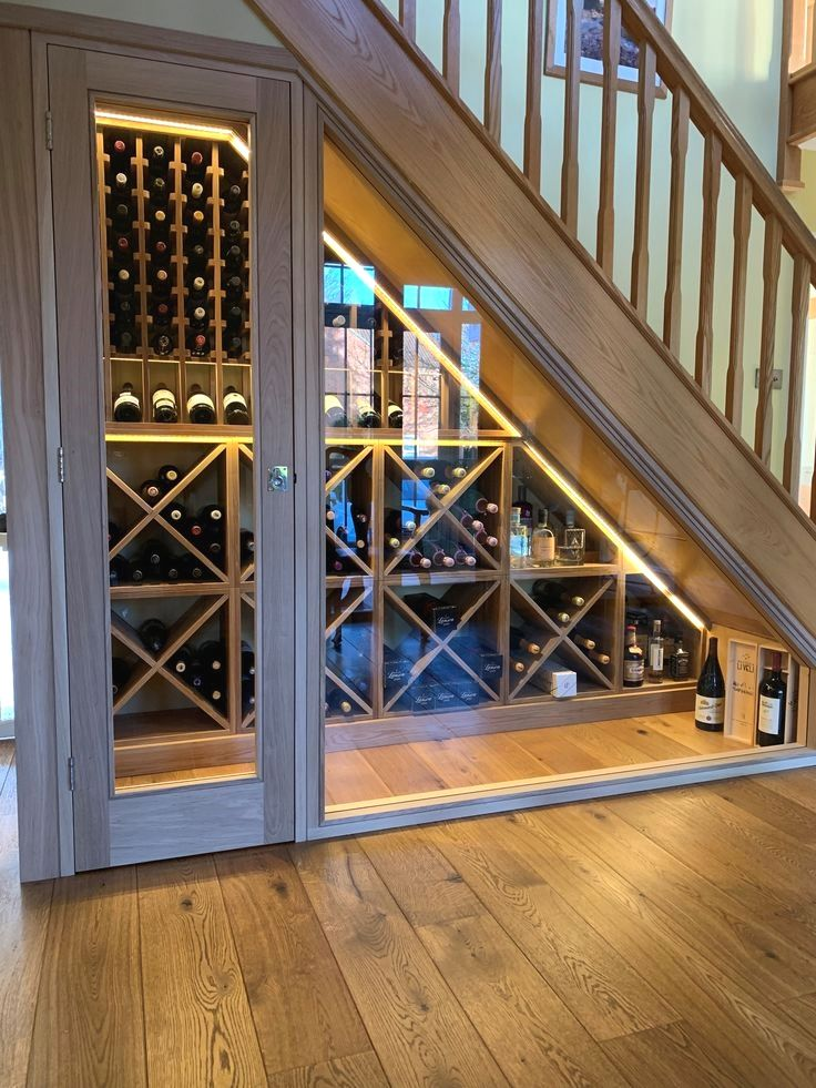 Bespoke Under Stairs Wine Racking Project Installed In