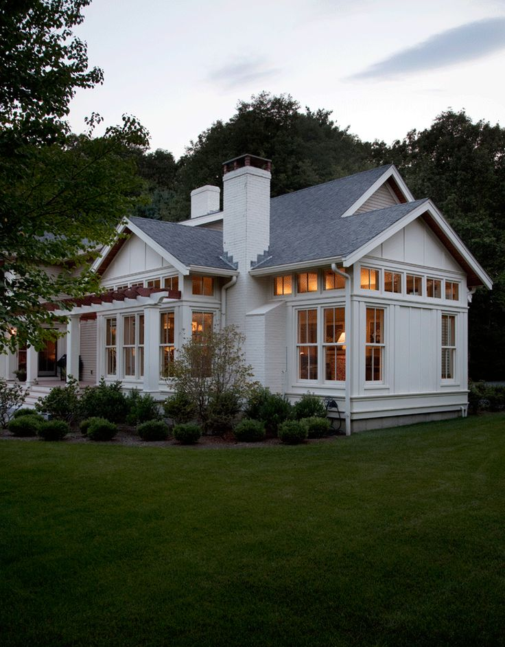 Brookes and Hill Custom Builders : Sporting Renovation. Nice porch and surrounding landscaping.
