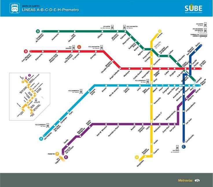 Mapa del subterráneo de Buenos Aires