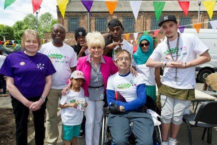 Barbara Windsor street party ambassador at Hackney Big Lunch 2013