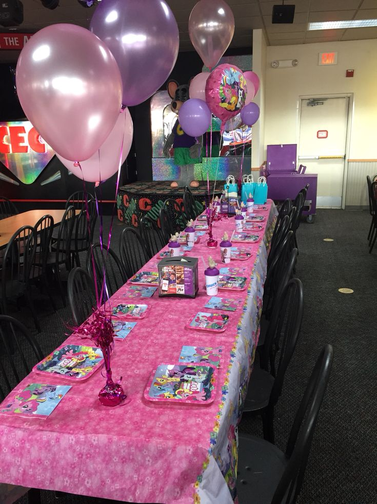 My Little Pony Party At Chuck E Cheeses