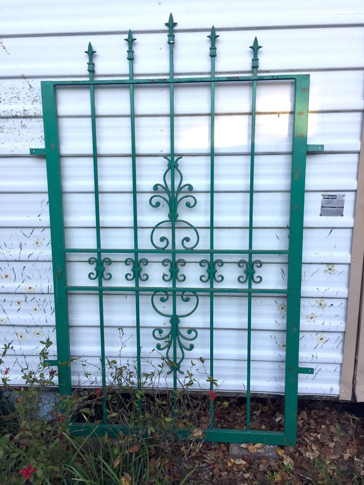 A personal favorite from my Etsy shop https://www.etsy.com/listing/566244344/vintage-wrought-iron-fence-panel-gate