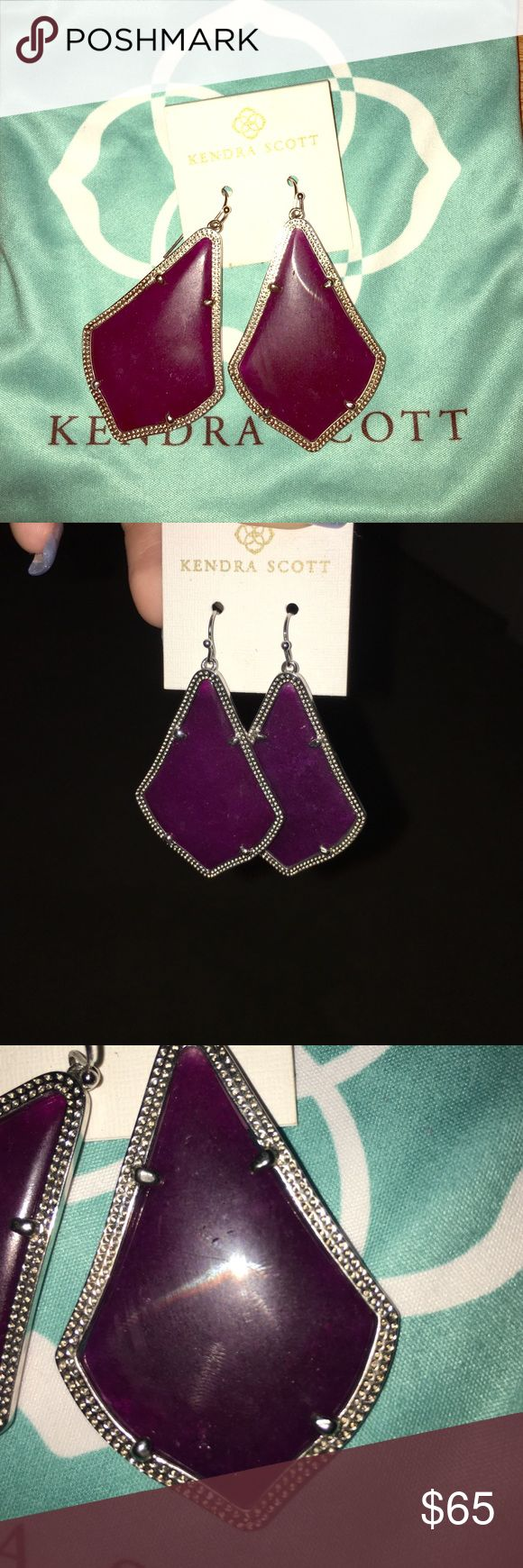 Kendra Scott Alex Rose Purple Quart Earrings They are purple alex rose earrings with sliver lining, custom made at the color bar in the Kendra Scott store, good condition Kendra Scott Jewelry Earrings