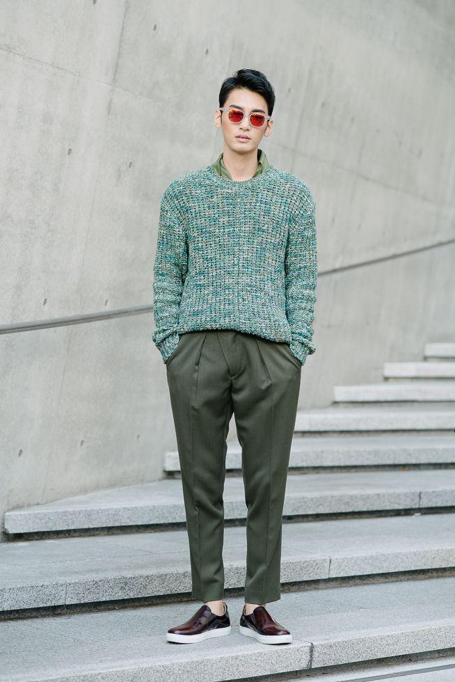 Kenzomodels Street Style Kim Yong Ha Shot By Alex Finch At Seoul Fashion Week Spring 2015