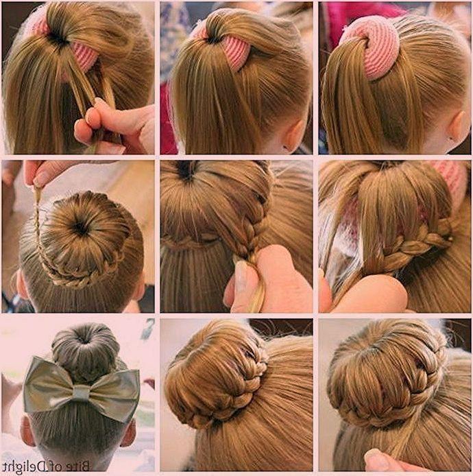 Chignon Ballerine Et Tresse Pour L Entourer Tuto Coiffure Facile Coiffure Tres Hair Tutorials Easy Fast Hairstyles Medium Length Hair Styles