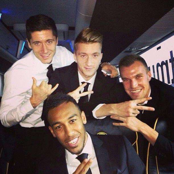 Let's rich London!  Lewy, Marco, Kevin & Pierre