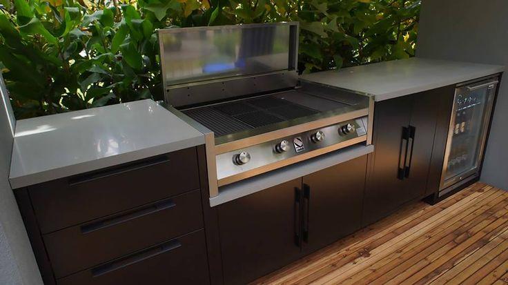 Steel BBQ 4x 25mj Burners, Ceran Heat Reflectors
