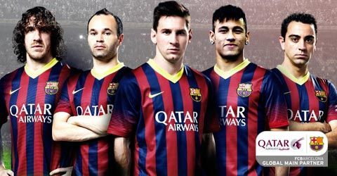 Qatar and Barcelona. Impressive sponsor deal.