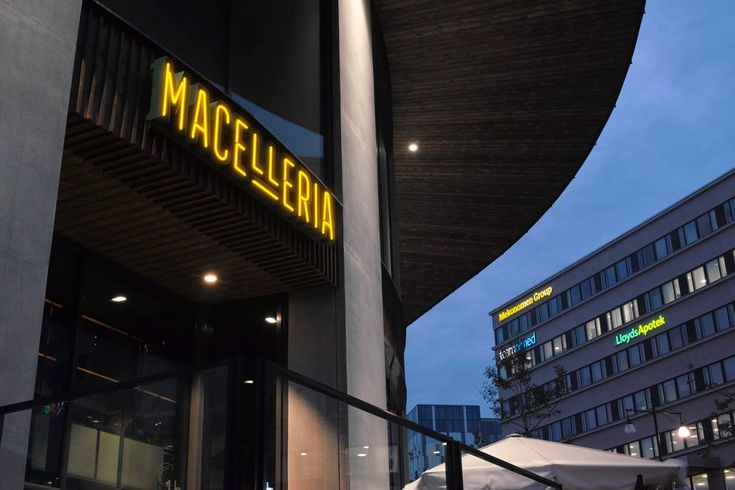 Macelleria Restaurant Stockholm Signage LPFLEX faux neon