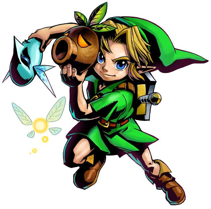 The Legend of Zelda: Majora's Mask 3D / Young Link with Zora & Deku Masks and Tatl
