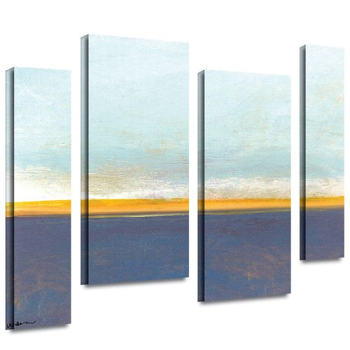 Found it at Wayfair - 'Big Country Sky I' by Jan Weiss 4 Piece Painting Print on Wrapped Canvas Set