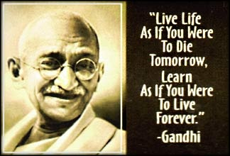 Gandhi - He taught the world that change need not come from violence, but through acts of civil disobedience.