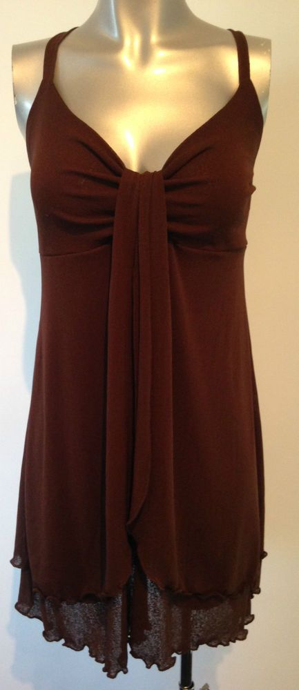 New Brown Beach Dress Large Ladies Cover Up Dress Beachwear Sexy Chocolate Brown