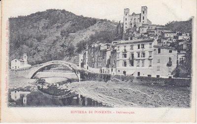 G Gandolfo Postcard - Riviera di Ponente - Dolceacqua c1907
