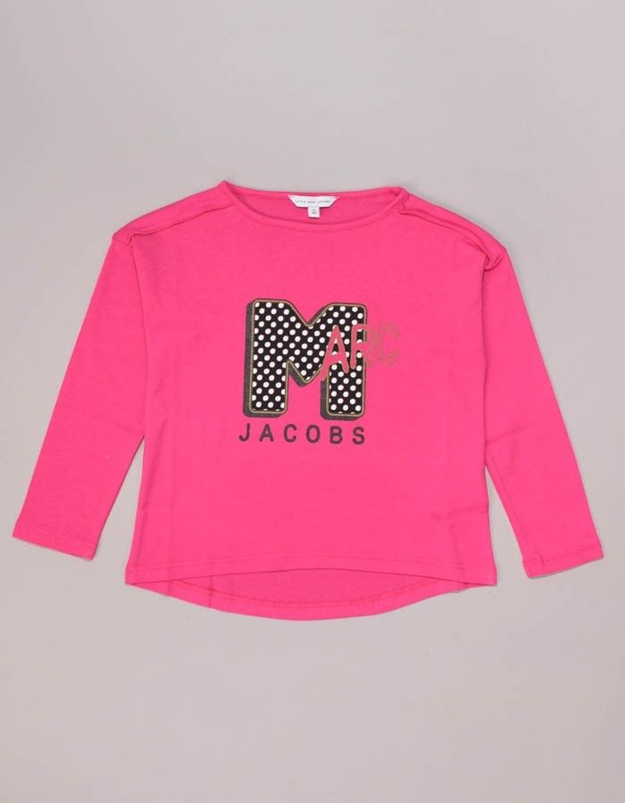 Marc Jacobs Pink Big M Logo Long Sleeved Tee | Accent Clothing