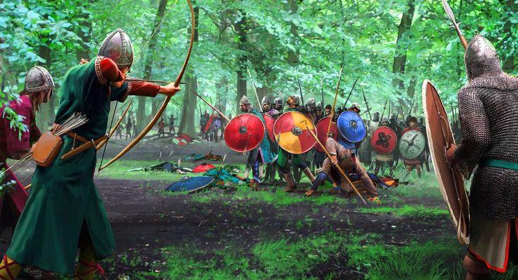 Carolingios sufren una emboscada por parte de sajones.