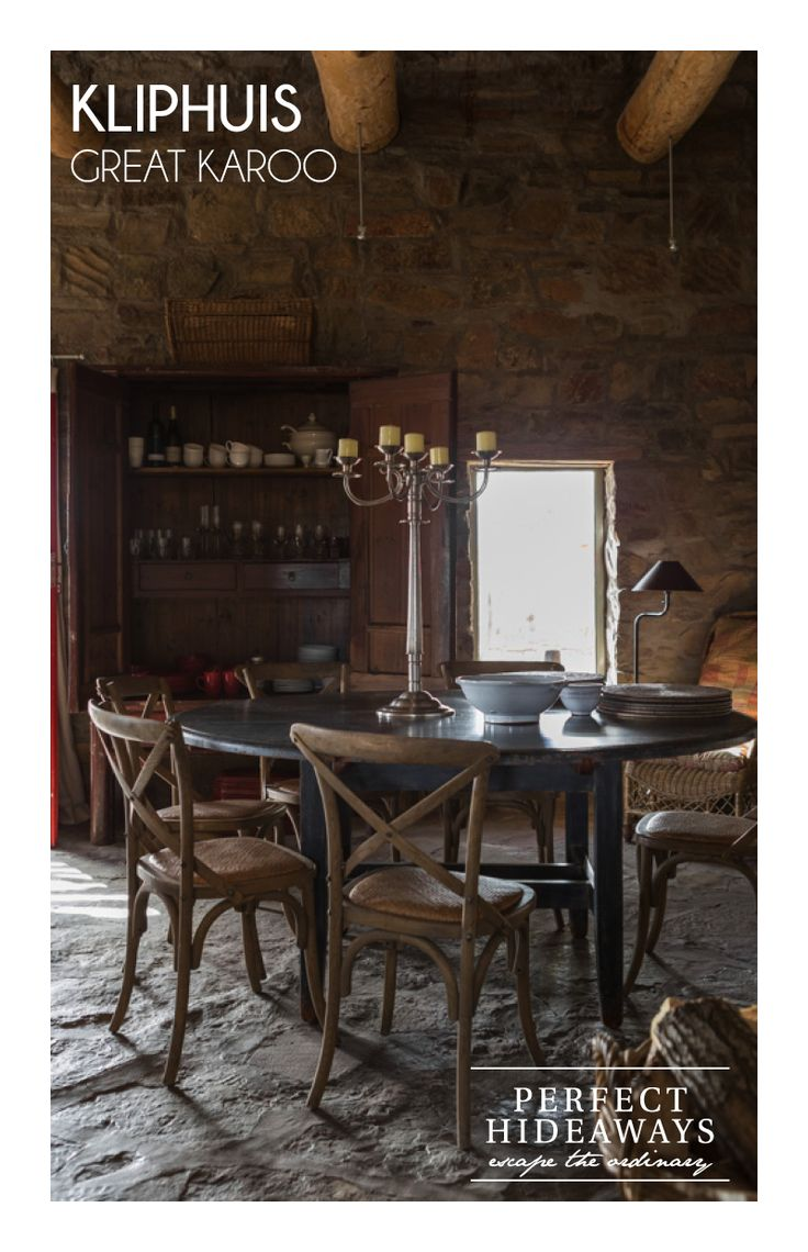http://www.perfecthideaways.co.za/Details/Kliphuis Follow the tradition of life in the Karoo during their summers and fling open the windows every morning for all the early morning breezes and shut them mid morning for midday when the sun is at its highest to keep out the heat.