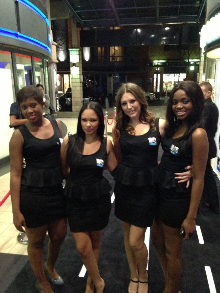 Beautiful ladies in stunning MTV Base dresses.