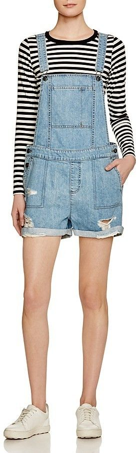 $178, Dl1961 Cara Denim Short Overalls In Campfire. Sold by Bloomingdale's. Click for more info: https://lookastic.com/women/shop_items/432486/redirect